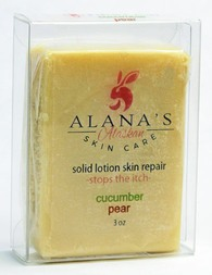 Cucunber/Pear solid lotion skin repair bar