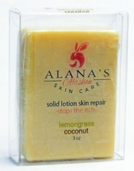 Lemongrass/Coconut solid lotion skin repair bar
