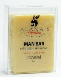 Man Bar solid lotion skin repair bar